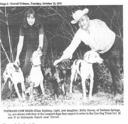 catahoula leopard dog history